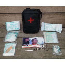 Molle First Aid Kit IFAK Modular abnehmbar  Erste Hilfe LEINA 25-teilig Modular schwarz