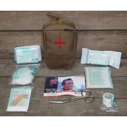 Molle First Aid Kit IFAK Modular abnehmbar Erste Hilfe LEINA 25-teilig Modular coyote tan