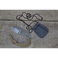 Neck Knife Messer 9 cm mit Kette Halsmesser