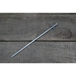 10 x Felsbodenhering 23 cm Zeltnägel Zeltheringe Felsnagel Stahl verzinkt