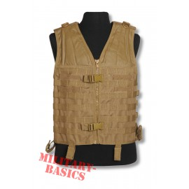 MOLLE Weste Modular CARRIER Einsatzweste Taktische Tactical vest coyote tan