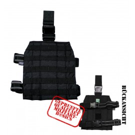 MOLLE Drop Leg Trägerplatte Beinbefestigung Holster Modular schwarz