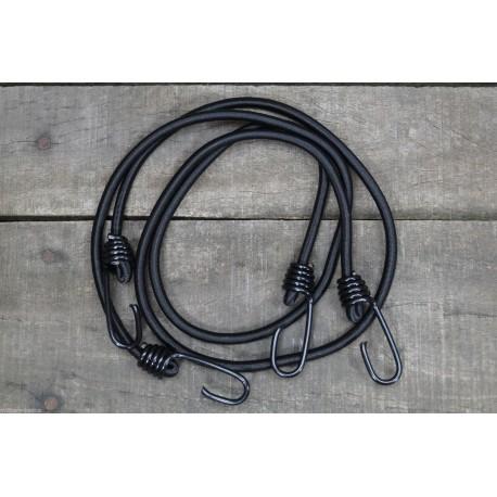 Expanderschnur m. Haken 75cm Doppelpack Outdoor Expander schwarz