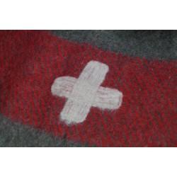 CH Schweizer Wolldecke 210 x 150 cm braun Armeedecke Decke Pferdedecke Armee Brandzeichen