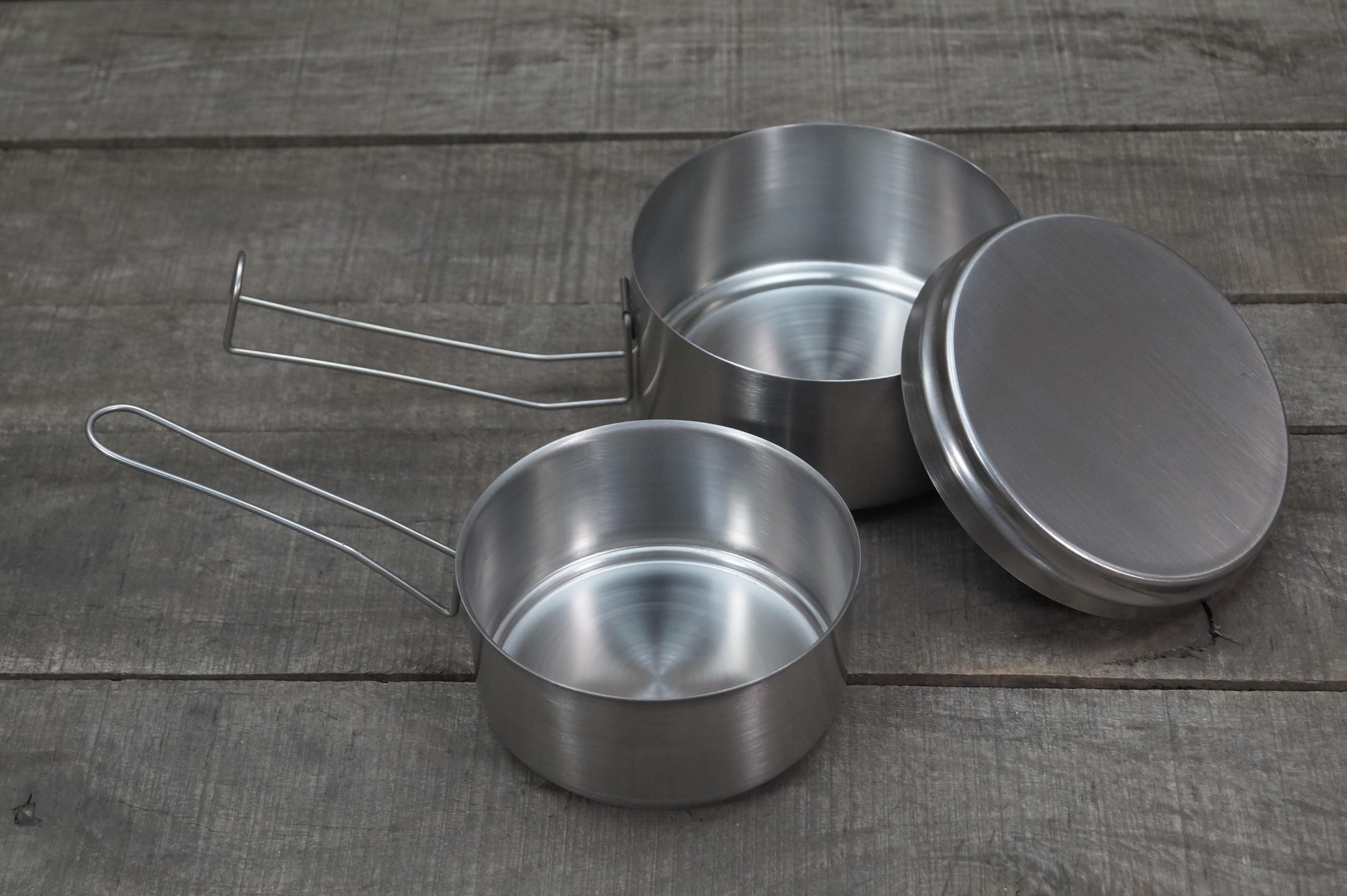 Helikon-Tex Dreiteiliges Kochgeschirr Stainless Steel
