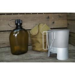 US Feldflasche Gen.II Molle Canteen cup Feldflaschenbecher coyote tan NEU BPA-frei
