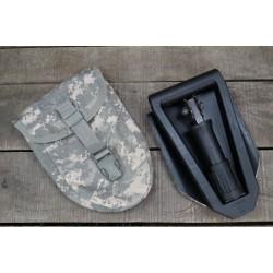 US Klappspaten Spaten Gerber E-Tool mit Spatentasche at-digital ACU Molle shovel