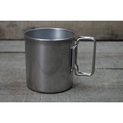 Becher Tasse rund  Ø 8 cm EDELSTAHL