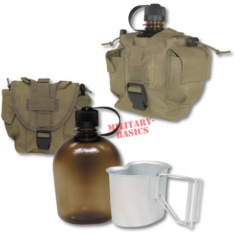 Feldflasche Gen.II Molle Canteen cup Feldflaschenbecher coyote tan NEU BPA-frei
