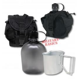 Feldflasche Gen.II Molle Canteen cup Feldflaschenbecher schwarz NEU BPA-frei