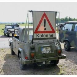 BW Bundeswehr Verkehrswarnschild Kolonne FJg 0,4t 9905-12-300-1592