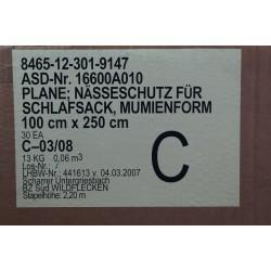 BW Bundeswehr Nässeschutzplane Schlafsackplane Elefantenhaut Schlafsack Plane
