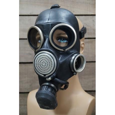 RUS Schutzmaske GP-7 V GP7V Gasmaske schwarz Trinksystem Latex Gas Mask