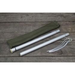 PL poln. Zeltbesteck Zeltstange Zeltheringe Heringe Bushcraft Tent Pole Set