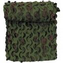 Tarnnetz DPM braun oliv mit Trägermaterial flammhemmend
