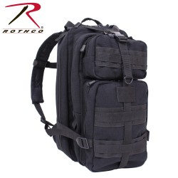 Rucksack Assault Pack MEDIUM schwarz CANVAS Segeltuch