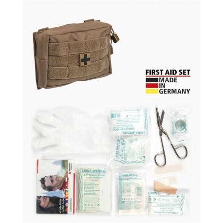 Molle First Aid Kit IFAK Modular Erste Hilfe LEINA 25-teilig Modular small dark coyote