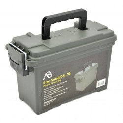 Munitionskiste AB klein Kunststoff oliv Transportbox Ammo box abschließbar