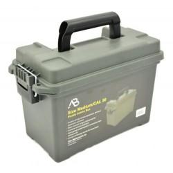 Munitionskiste AB mittel Kunststoff oliv Transportbox Ammo box abschließbar