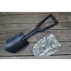 US Klappspaten Spaten Gerber E-Tool mit Spatentasche at-digital ACU Molle shovel NEU
