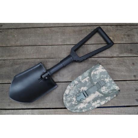 US Klappspaten Spaten Gerber E-Tool mit Spatentasche at-digital ACU Molle shovel NEU