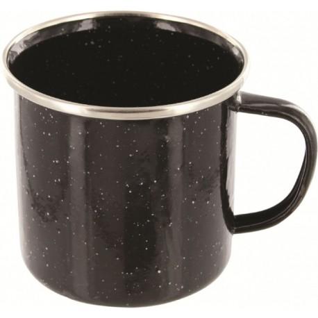 Emailletasse Edelstahlrand  Western Becher 330ml 0,33 schwarz