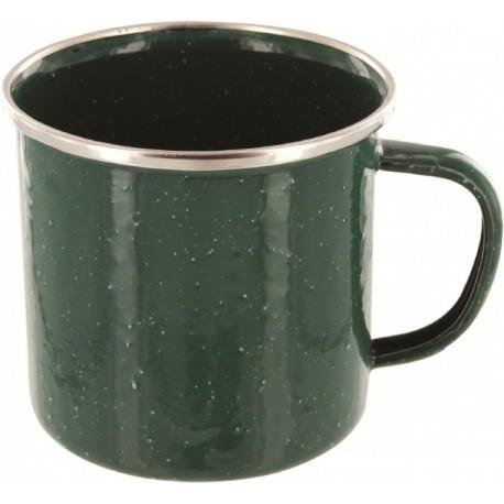Emailletasse Edelstahlrand  Western Becher 330ml 0,33 grün