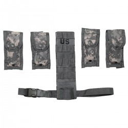 US MOLLE II Pistolman Set ACU At-digital Magazintasche Beinextender
