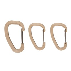 WILDO® Accessory Carabiner Set coyote tan Karabiner