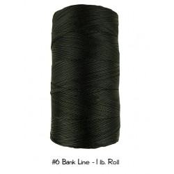 Bankline No. 6 schwarz Bank Line  1lb-Roll Rolle 3300 ft