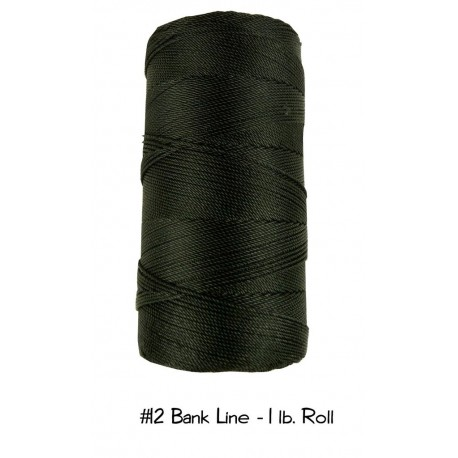 Bankline No. 12 schwarz Bank Line  1lb-Roll Rolle 1580 ft