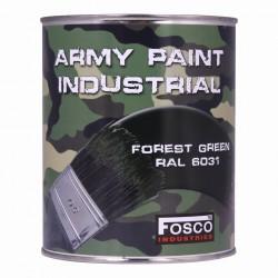 Militärfarbe FOREST GREEN / RAL 6031 / WALDGRÜN / BRONZEGRÜN1000 ml 1 Liter Dose