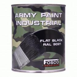 Militärfarbe FLAT BLACK / RAL 9021 / TEERSCHWARZ 1000 ml 1 Liter Dose