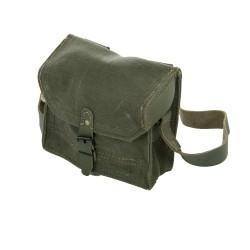 franz. Magazintasche klein Segeltuch Leder