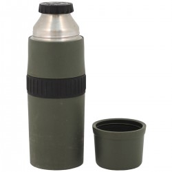 NL holl. Thermoskanne Isolierflasche 1l THERMOS Edelstahl oliv