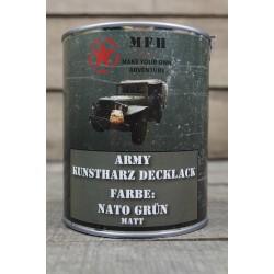 Militärfarbe NATO GRÜN MATTMilitärlack Farbe 1000 ml 1 Liter Dose