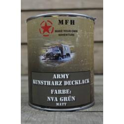 Militärfarbe NVA GRÜN MATT RAL 6003 Apfelgrün Militärlack Farbe 1000 ml 1 Liter Dose