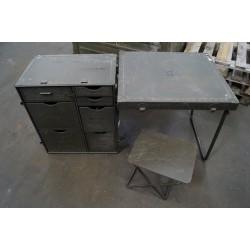 US Army Field Desk Feldschreibtisch Military Schrank Schreibtisch Tisch oliv