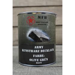 Militärfarbe OLIVE GRÜN MATT OD DRAB Militärlack Farbe 1000 ml 1 Liter Dose