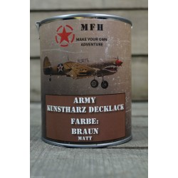 Militärfarbe BRAUN MATT RAL 8027 LEDERBRAUN Militärlack Farbe 1000 ml 1 Liter Dose