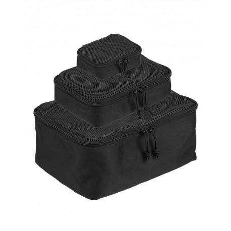 Netztaschen Netz Pouch-Set 3-tlg. schwarz