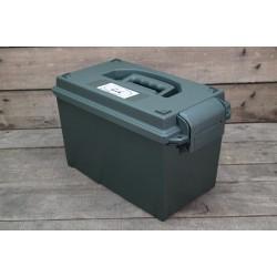 US Munitionskiste mittel Kunststoff oliv Transportbox Ammo box abschließbar