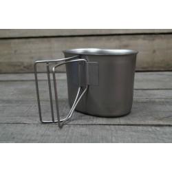 US Feldflaschenbecher Canteen Cup Edelstahl neu Becher f. Feldflasche GLATT