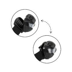 LED Kopflampe CREE XPE schwarz mit Rotlicht