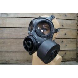 GB Britische Gasmaske Schutzmaske S10 Avon mit Filter schwarz