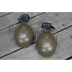GB UK brit.  Peltor Genörschutzkapsel für Helme Dunkelgrün