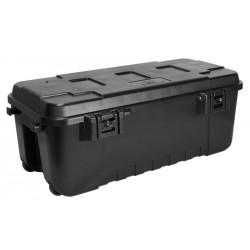 Plano Transportbox schwarz mit Rollen 102 Liter