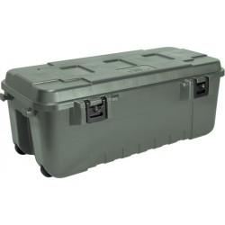 Plano Transportbox oliv mit Rollen 102 Liter