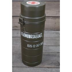 BW frühe Bundeswehr Tragedose f. Beatmungsbeutel