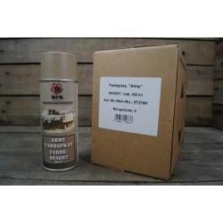 6x Farbspray matt MFH Militärlack DESERT Militärfarbe Sprühdose Farbe RAL 1019
